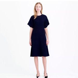 J. Crew Collection Wool Bouclé Blue Dress Size 8
